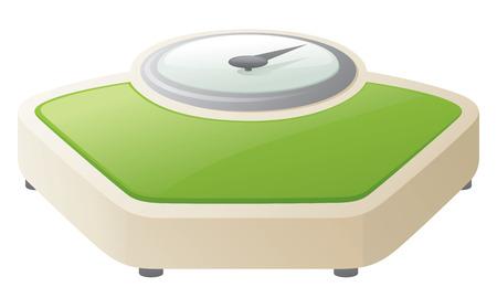 weighing scales: Vecchie bilance verdi stile.