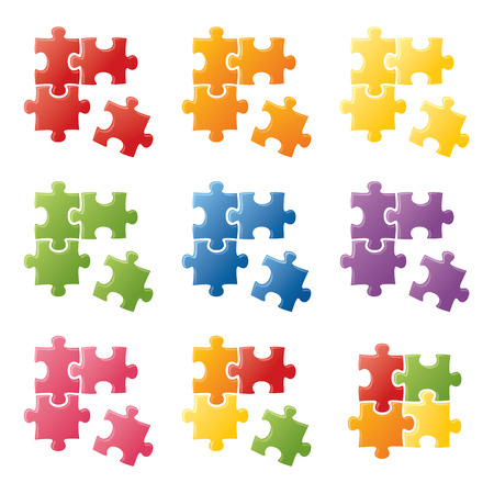 solves: Shiny puzzle pieces in bright colours. Mix and match.