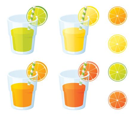 Świeżo wyciśnięty z cytryny, limonki, pomarańczy i sanguini.