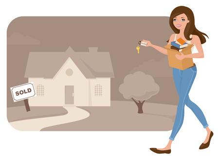 home moving: Mudarse a una casa nueva.