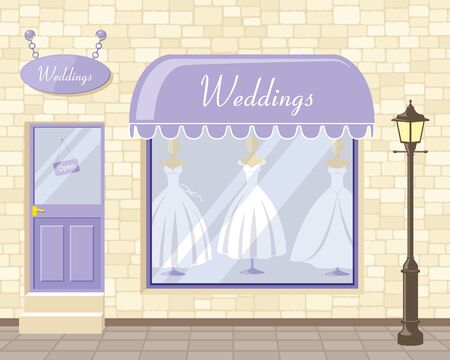 boutique display: Little wedding dress boutique in town.
