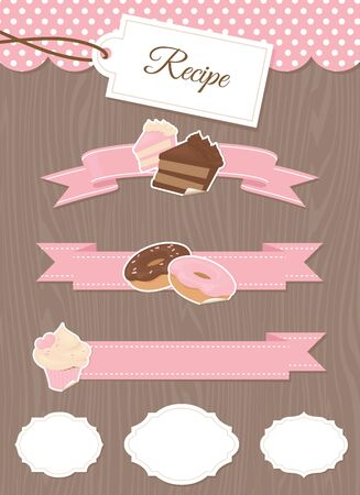 pink banner: A collection of design elements for yor baking blog.