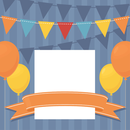 copy: Birthday invitation with copy space. Illustration