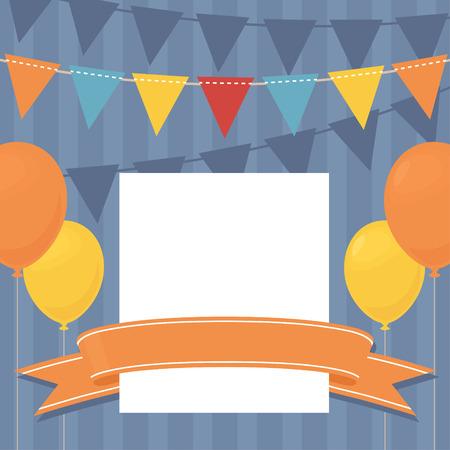 invito compleanno: Compleanno invito con lo spazio della copia.