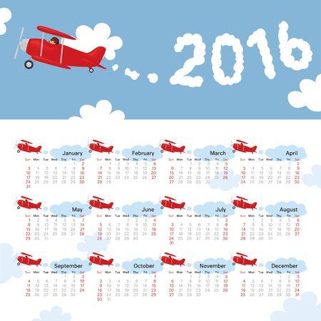 in december: January to December 2016 Calendar