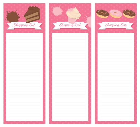 memo pad: Shopping list pad design with cake.