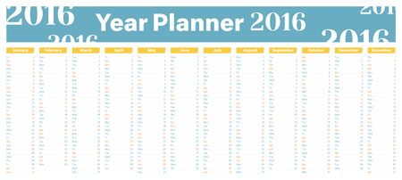 planner: Year Planner for dates, events and reminders.
