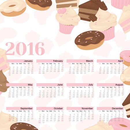 december: January to December 2016 Calendar