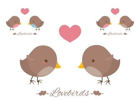 lovebirds: Little lovebirds with a heart.