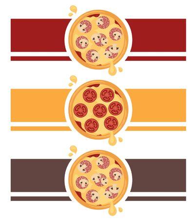 Pizza design for your restaurant or takeaway. Illustration
