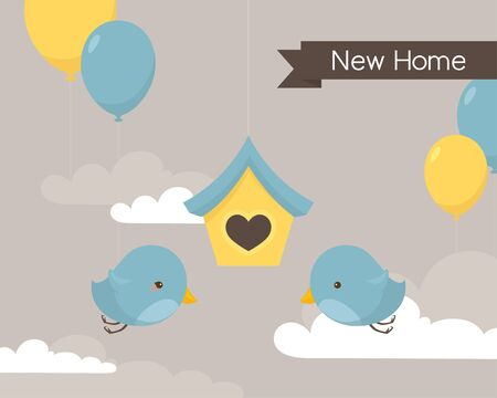 Little bluebirds celebrating their move into a new home.