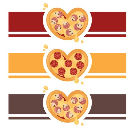 Heart shaped pizza design for your restaurant or takeaway.