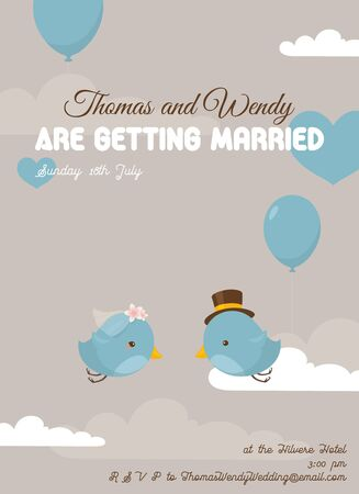 Wedding invitation or save the date stationery design.