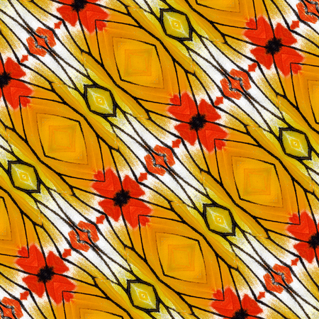 Beautiful Orange and Yellow pattern background made from Painted Jezebel butterfly wings photo