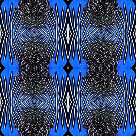 bird feathers: Beautiful background pattern made from blue bird feathers for graphic and design