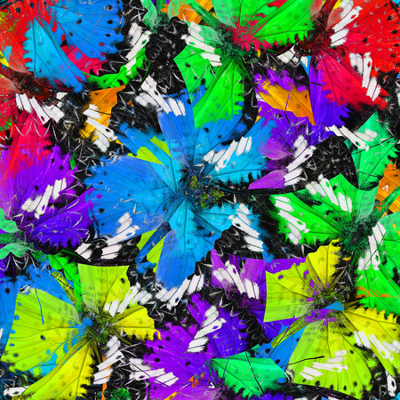 lacewing: Exotic of vivid and colorful texture made of Leopard Lacewing butterflies Stock Photo
