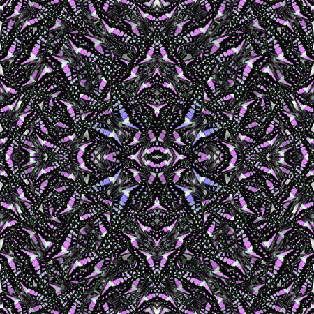 Seamless Purple Pattern made of Common Jay the wild green butterfly consolited in to the great background texture photo