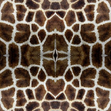 giraffe skin: Seamless Background Pattern made from Giraffe skin in sharp details Stock Photo