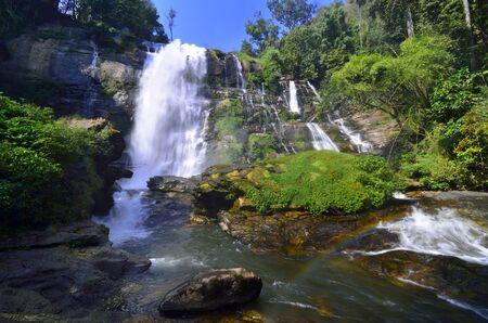 Wachiratarn Waterfall, Doi Intanon Natinal Park, best landscape in Chiang Mai, Thailand Stock fotó - 150292772