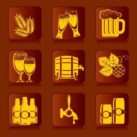 sheaf: conjunto de iconos de cerveza e ingredientes