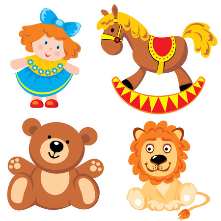 set children toys Stock Vector - 7325829