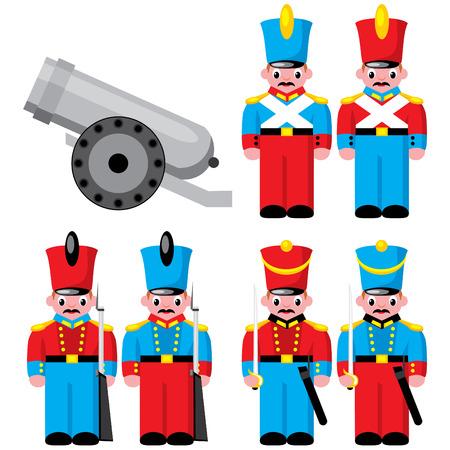 batall�n: establecer juguetes de los ni�os  Vectores