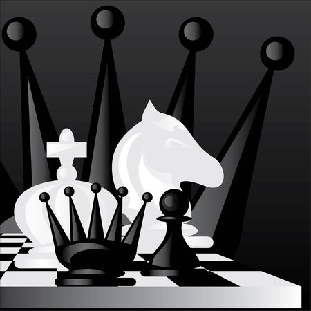 image on a chess game theme Vector