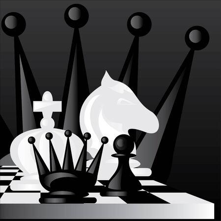 chess knight: imagen sobre un tema de juego de ajedrez