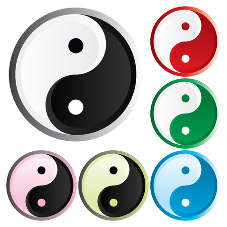 antipode: Asian symbol of opposites - the Tao of different colors
