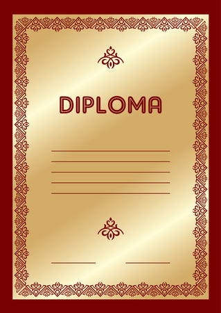 template for the gold award diploma