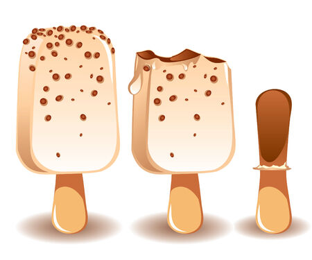 disappear: three stages of the disappearance of ice cream