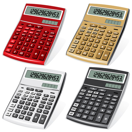 mathematician: image colored calculators