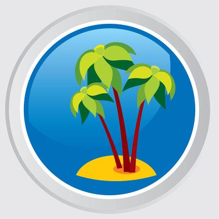 Tropical island in a sea Stock Vector - 7441796