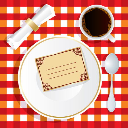 image of lunch appliance with an invitation Stock Vector - 7584233