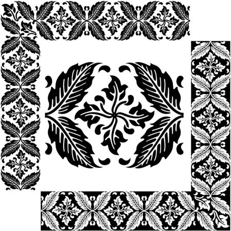 Classical decorative elements for ornament  Vector