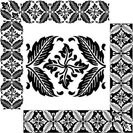 interlocking: Classical decorative elements for ornament  Illustration