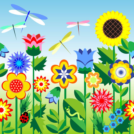 background on the flowers theme. Stock Vector - 7584238
