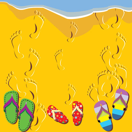 Pictures on the beach theme Vector