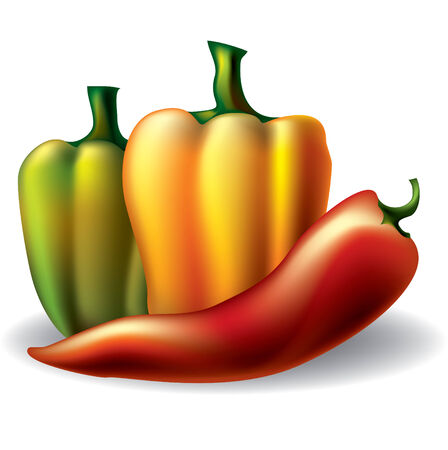 image of a peppers Stock Vector - 7584247
