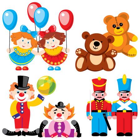 melancholy: vector afbeeldingen kinderen speelgoed - twins
