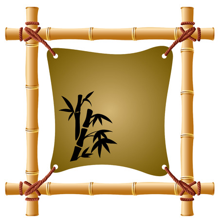 a bamboo frame with a taut sheet of paper