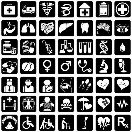 discapacidad: conjunto de iconos de vector de tema m�dico  Vectores