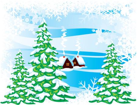 Fabulous winter landscape. Vector image. Stock Vector - 7945236