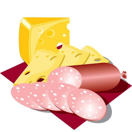 Serviette:   imagen de alimentos en una servilleta Vectores