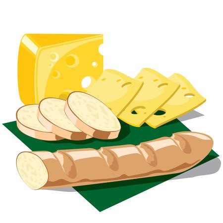 servilleta de papel:  imagen de alimentos en una servilleta Vectores