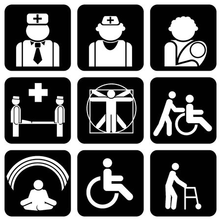 set of icons to medical theme Stock Vector - 8173241