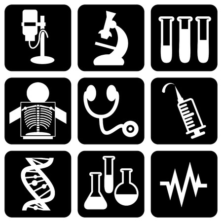 cardiogram: set of icons to medical theme