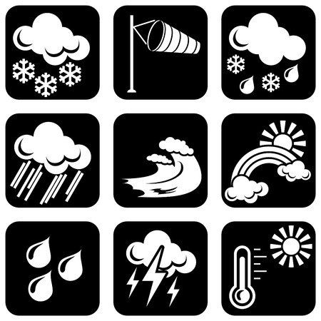 set of   icons for weather theme Stock Vector - 8173242