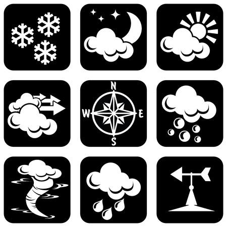 granizo:  conjunto de iconos para el tema del clima