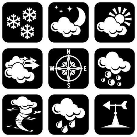 tornadoes:  set of icons for weather theme